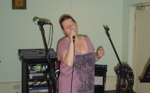 Fiona in rehearsals